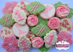 Fabulous Shabby Chic 1st Birthday Cookies by Sugared Hearts Bakery
