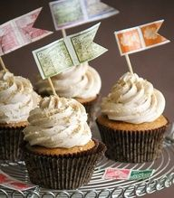pumpkin brown butter cupcakes with cinnamon frosting.