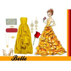 Belle, created by annmarie0697  I created this set for my Disney Princesses collection.