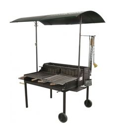 This top of the range barbeque is as grand as they come. The Tuscany barbeque has space for all your barbeque dreams and includes two large side-shelves, a canopy and a large grill area.