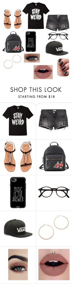 """""""Stay Weird"""" by milliegrace1479 on Polyvore featuring Charlotte Russe, Casetify, Vans and Jennifer Zeuner"""