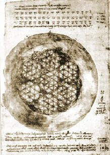 Leonardo da Vinci has studied the Flower of Life's form and its mathematical properties. He has drawn the Flower of Life itself, as well as components therein, such as the Seed of Life. He has drawn geometric figures representing shapes such as the platonic solids, a sphere, a torus, etc., and has also used the golden ratio of phi in his artwork; all of which may be derived from the Flower of Life design.
