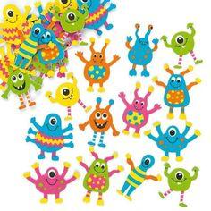 """Moosgummi-Aufkleber """"Monster"""" - Sticker Set zum Basteln für Kinder und als Dekoration ideal für Karten(100 Stück)"""
