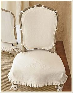 My Faux French Chateau: French Inspired Design - Slipcovers - Bad Reputation - Great Look!