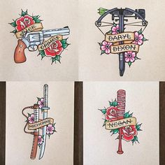 Dead Walking Dead may refer to: Tatoo Design, Tattoo Design Drawings, Cool Drawings, Traditional Roses, American Traditional, Traditional Tattoo, Traditional Ideas, Walking Dead Drawings, Fear The Walking Dead