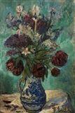 Frantisek Emler - Bouquet in a Vase, oil on fibreboard on MutualArt.com