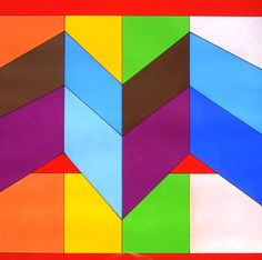 Cubist Art, Abstract Art, Chevron Art, Sacred Geometry, Pattern Wallpaper, Painters, Stripes, Graphics, Artists