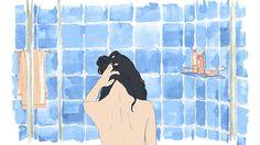 """oceanodiario: """"Luna tomando banho - work in progress. Facebook Page Catarse """""""