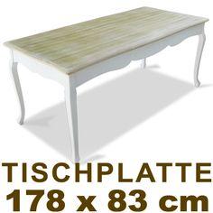 Esstisch Shabby Chic Landhaus Stil Weiss Holz Vintage Tisch Küchentisch Antik