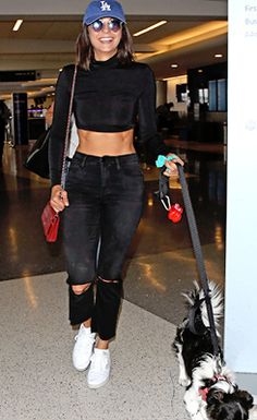 Nina Dobrev departing LAX airport Los Angels (July 19)