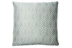 Classic 18x18 Pillow, Mineral on OneKingsLane.com