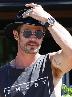 Chris Hemsworth in Byron Bay, Australia.