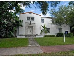 SOLD!!! Grand Dame Miami Home --- 1930's entrance which I adore..Recap: 5/5/1+ guest house!  A vintage look.. all that is missing is huge planters on the Left & Right side! ONE Sotheby's Exclusive .
