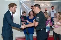 HRH Prince Harry meeting the Chairman of Row 2 Recovery and River & Rowing Museum, Paddy Nicoll