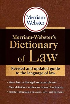 Bestseller Books Online Merriam-Webster's Dictionary of Law  $10.39  - http://www.ebooknetworking.net/books_detail-0877797196.html