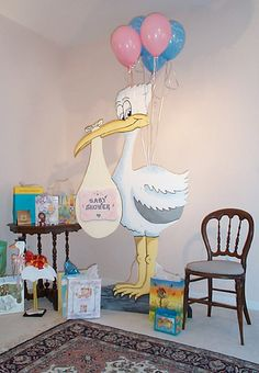 cute swan baby shower decorations ideas baby magazine baby ideas para baby shower de ni o Baby Shower Pictures, Cute Baby Shower Ideas, Baby Shower Signs, Baby Shower Themes, Baby Boy Shower, Baby Stork, Stork Baby Showers, Baby Shawer, Baby Boy Games