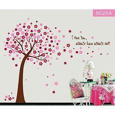 kleurrijke bloem boom voor kinderkamer muurtattoo zooyoo9026 decoratieve verwisselbare pvc muursticker – EUR € 6.99