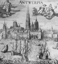 1630 | Redezicht van Antwerpen door Joannes Baptista Vrients = View of the Antwerp harbor by Joannes Baptista Vrients (Source: Flandrica.be | Hendrik Conscience Heritage Library) [CreativeCommons BY-NC-SA BE 2.0]