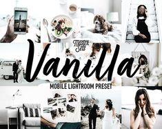 Mobile Lightroom Preset CREMA Blogger Lifestyle Bright iPhone | Etsy