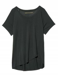 Beautiful draped black blouse! Its design will instantly dress up jeans for a quick chic look!