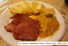 Knédli káposztával és tarjával Pork, Food And Drink, Favorite Recipes, Beef, Chicken, Kale Stir Fry, Meat, Pork Chops, Steak