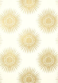 BAHIA, Metallic Gold on Cream, T35143, Collection Graphic Resource from Thibaut