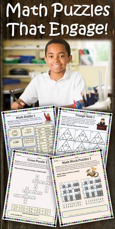 Wonderful collection of engaging and FUN math puzzles. #MathPuzzles