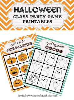 Halloween Class Game Printables--kids love this game!
