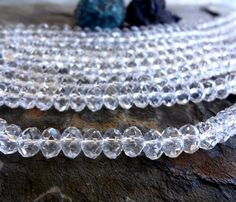 8x5mm Faceted Crystal Puffy Rhondelle, Crystal Clear 8mm Crystal Rhondelle, 8mm Crystal Rhondelle, 8x5mm Clear Crystal Rhondelle by DragonflyBeadsStudio on Etsy