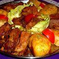 Sütőben sült sertés oldalas vele sült fűszeres krumplival Hungarian Recipes, Muffin, Chicken, Cooking, Book, Mint, Cuisine, Kitchen, Livres