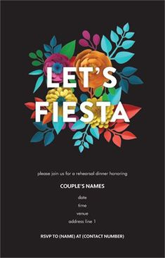 Get inspired by 2566 professionally designed Fiesta Invitations & Announcements templates. Customize your Invitations & Announcements with dozens of themes, colors, and styles to make an impression. Engagement Party Invitations, Wedding Invitation Templates, Birthday Invitations, Personalized Invitations, Custom Invitations, Gemini And Scorpio, Floral Invitation, Invite, Wedding Planning Tips