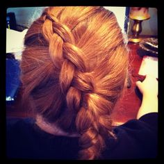 I like how this looks...  Inside out French braid.