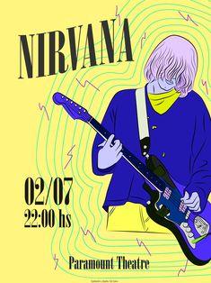 Flyer Nirvana. Ilustración por Sol Cano © www.heysolblog.com || Instagram: @solcano