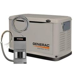 Generac 6237 Watt Air-Cooled Steel Enclosure Liquid Propane/Natural Gas Powered Standby Generator with 10 Circuit Transfer Switch (CARB Compliant) Generators For Sale, House Generators, Portable Power Generator, Power Backup, Transfer Switch, Emergency Power, Emergency Preparedness, Aquaponics System, Home Depot