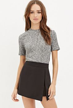 Ribbed Knit Marled Top   Forever 21   #thelatest