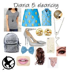 """District 5 girl at school"" by itzmorganr ❤ liked on Polyvore featuring Au Jour Le Jour, Chopard, Chanel, Jimmy Choo, Kate Spade, Fiebiger, alfa.K, women's clothing, women's fashion and women"