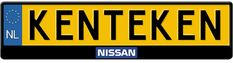 Nissan logo midden kentekenplaathouder