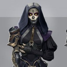 """My concept art for upcoming MMO """"Skyforge"""" Fantasy Character Design, Character Concept, Character Art, Cyberpunk Character, Cyberpunk Art, Robot Concept Art, Environment Concept Art, Fantasy Inspiration, Character Inspiration"""