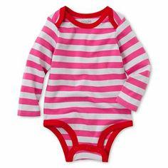 giggleBABY™ Pink Striped Bodysuit @JCPenney #newborn #baby #stripes