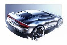 Audi Nanuk Quattro Diesel Concept Has Italdesign Giugiaro Parcour Written All Over It - Carscoops Car Design Sketch, Car Sketch, Futuristic Cars, Transportation Design, Automotive Design, Sport Cars, Concept Cars, Automobile, Sketches
