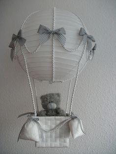 """Lampen - """"Heissluftballon"""" grau weiss - ein Designerstück von LichTiger bei DaWanda"""