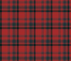 Sixth Doctor Tartan fabric by theumpteenthdoctor on Spoonflower - custom fabric