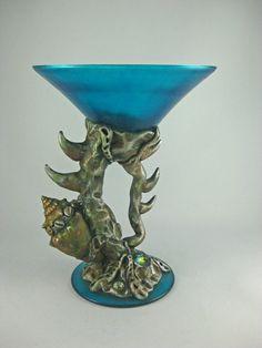 Gothic Goblet Gothic Martini Holder Gothic by KismetClayDesigns