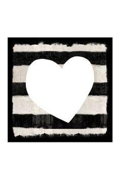 Ebony Heart Canvas Art