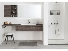 Neat, modern and unprecedented freedom Bathroom Furniture, Wooden Bathroom, Thinking Outside The Box, Double Vanity, Sink, Interior Design, Mirror, The Originals, Modern