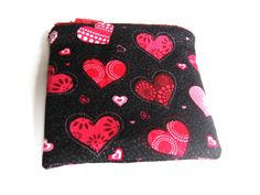 Valentine's Day Red and Pink Heart Coin Purse, Small Change Purse, Zipper Coin Pouch, Valentine's Day Gift, Gift for Her, Purse Accessory by MountainAirBoutique on Etsy