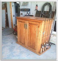 Fishing Pole Storage Cabinet