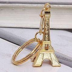 3pcs/lot Torre Eiffel Tower Keychain For Keys Souvenirs, Paris Tour Eiffel Keychain Key Chain Key Ring Decoration Key Holder