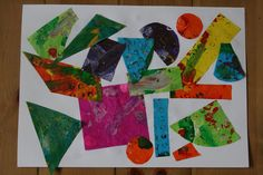 tissue paper prints.  Eric Carle inspired with links to Eric Carle website