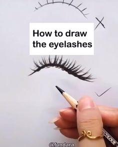 Eye Drawing Tutorials, Art Tutorials, Drawing Ideas, Drawing Tips, Types Of Drawing, Sketches Tutorial, Sketch Ideas, Drawing Techniques, Makeup Tutorials